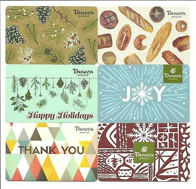 Lot of (6) Panera Bread Holiday Winter Joy Gift Cards No $ Value Collectible
