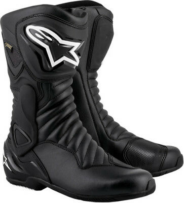 62b05d46486d8 Alpinestars SMX 6 V2 Gore-Tex Black Waterproof Motorcycle Boots with  Grinder 42