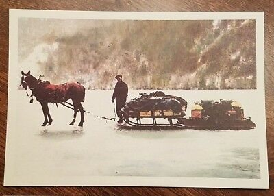 Canada Postage - Set of FIVE Prepaid Postcards - Historical Mail Delivery, NHM