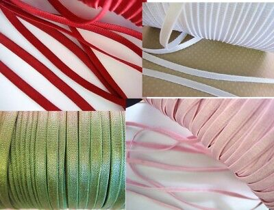 10 yards Quality Foldover Elastic Spandex Band 16mm Color//trim//sewing T155-Beige