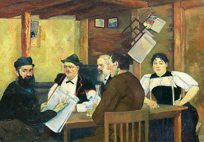 """oil painting 100% handpainted on canvas """"Peasants in the Tavern"""""""