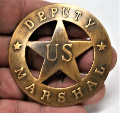 Reproduced Collectible - Brass-Badge - Deputy US Marshal - round