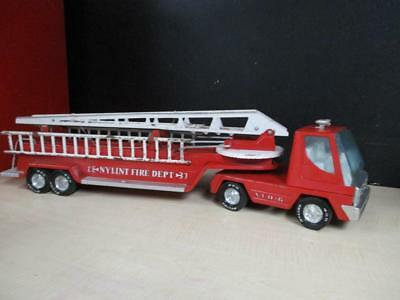 VINTAGE NYLINT FIRE Truck Ladder Engine And N F D #6 TURBO POWER 30
