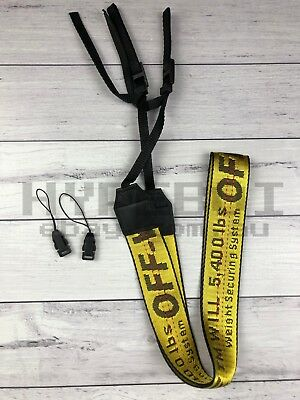 Off-White c/o Virgil Abloh - Yellow Industrial Belt Lanyard Camera Strap SALE!!