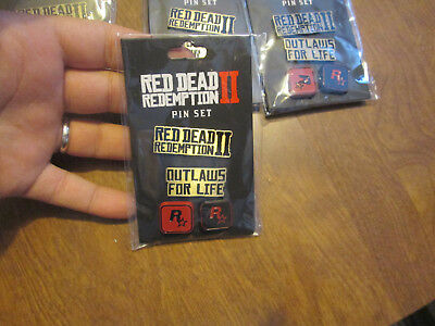 Red Dead Redemption II 2 Pin Set Collecable - Brand New Sealed Rockstar 2018