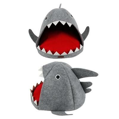 Shark Cat Dog House Bed Puppy Bed & Cat Kennel Warm Removable Washable Pet Nest
