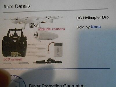 RC Helicopter Drone with HD Remote Control 4 CH 6 Axis Gyro with camera