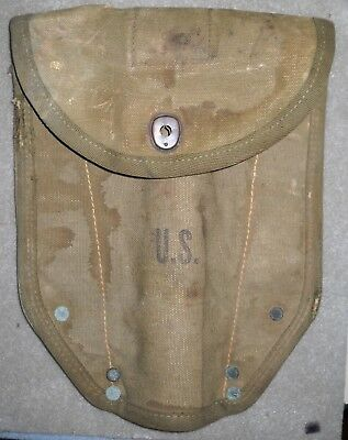 Wwii Usgi Entrenching E Tool Cover Military Folding Shovel Cover Tulsa Canvas