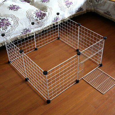 Pet Cat Dog Barrier Steel Cage Mesh Small Fence Gate For Puppy Safety Isolation