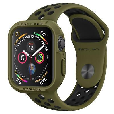 For Apple Watch 4 Series Case Spigen® [Rugged Armor] Shockproof TPU Cover