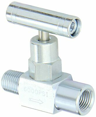 "1/4"" NPT  Carbon Steel Needle Valve Gas/Fluids (6000 Psi) PIC Gauge"