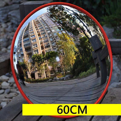 60cm Wide Angle Security Convex Shatterproof PC Mirror for 45~60mm Pillar NEW