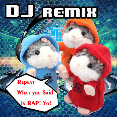 1x Talking Hamster Repeats What You Say Cute Plush Electronic Mimicry Hamster