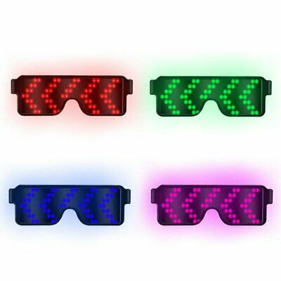 LED Light Glasses 8 Modes prom Flash Party USB charge Luminous Christmas Gift