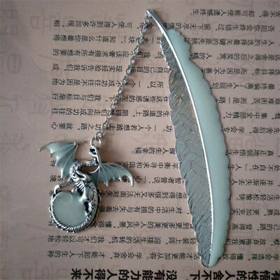Luminous Flying Dragon Feather Wedding Favor Bookmarks Reading Ornaments Z