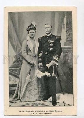 299360 QUEEN Wilhelmina of Netherlands Prins Hendrik Vintage