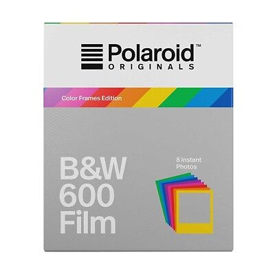 """POLAROID 600 Black and White Instant Film with """"Color-Frame"""" 8 Shot Pack"""