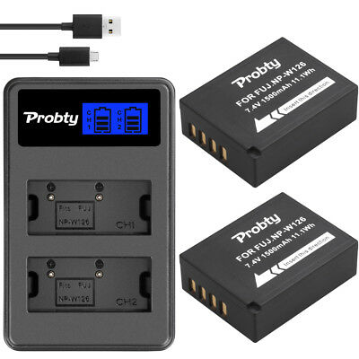 NP-W126 Battery + charger for Fujifilm HS50EXR X-T20 T10 X100F H1X-A5 X-A3 A1 E1
