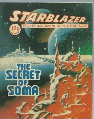 The Secret Of Soma,starblazer Space Fiction Adventure In Pictures,comic,no.16