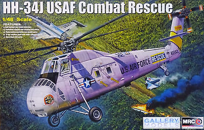 MRC Gallery Models HH-34J USAF Combat Rescue Helicopter 1:48 Kit 64104