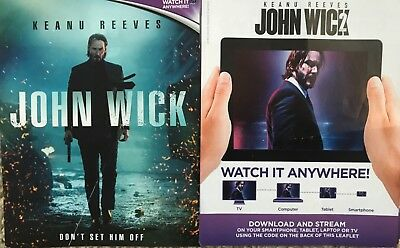 John Wick One (1) And Two (2)        Hd Code Uv Ultraviolet Code Only