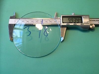 Round Clock Glass, Convex, Rough Edge 99.3mm (3 7/8 Inch), 2.1mm Thick