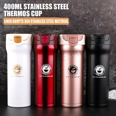 400ml Stainless Steel Insulated Cup Coffee Tea Thermos Mug Travel Vacuum Flasks