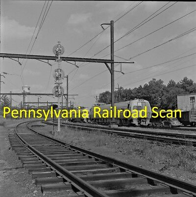 Pennsylvania Railroad Original B&w Railroad Negative Metroliner Car 802 In 1967