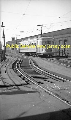 Public Service Of New Jersey (Psnj) Original B&w Trolley Negative Of Car 2698