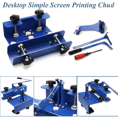 NEW Desktop Simple Silk Screen Printing Machine Chuck T-shirt Printer Head DIY
