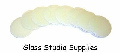 8 Pre Cut 3cm White Circles for Fused or Stained Glass 90coe (PCCW3)