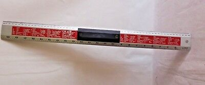 Metal Cutting Ruler with handle - 60 cm by Black Forge