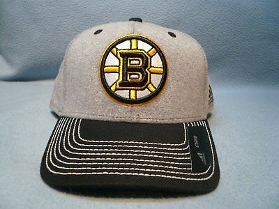 0bd2ac9d Adidas Boston Bruins Heather Line Change BRAND NEW Snapback Curved Bill hat  cap