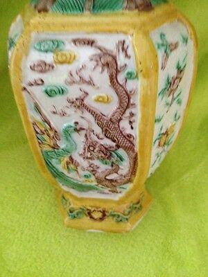 Antique Pair Of Very Old Beautiful Marked Asian Vases