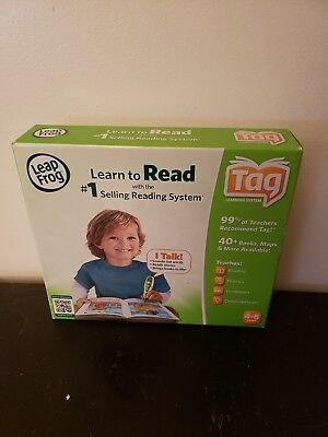 Leap Frog Learn To Read Tag Talking Reading System With Activity Book Pen