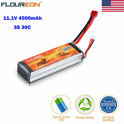 3S 11.1V 4500mAh 30C TPlug LiPo Battery Pack for RC Evader BX Car/Truck/Truggy