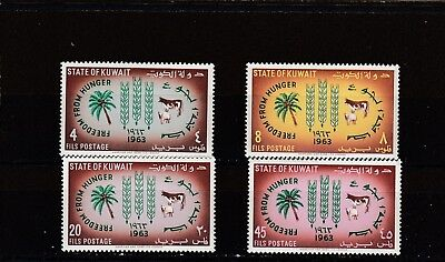 a98 - KUWAIT - SG184-187 MNH 1963 FREEDOM FROM HUNGER