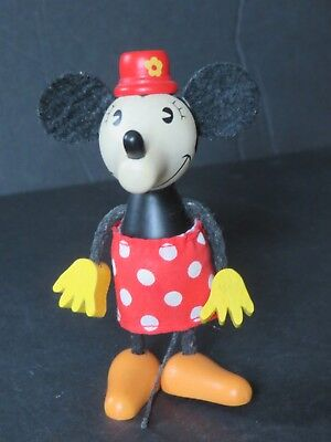 Disney Minnie Mouse Wooden Doll by Schylling Retro Collection Figurine (N6)