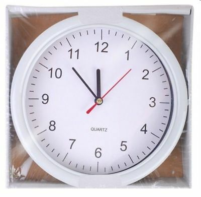 "8"" Round Wall Clock Indoor / Conservatory / Office / Home 130mm Diameter Face"