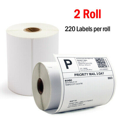 2 Rolls 220/Roll Compatible Dymo 4XL Direct Thermal Shipping Labels 4x6 1744907