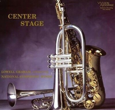 """Lowell Graham & National Symphonic Winds Center Stage 12""""LP 33rpm 200gm A.P. New"""