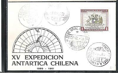 CHILE Antartic 1960-61 XV chilean expedition  antartic  map