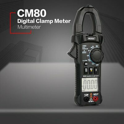 CM80 Digital Clamp Meter True RMS Multimeter AC/DC Volt Amp Ohm Diode Tester FD