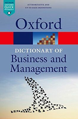 A Dictionary of Business and Management (Oxford Quick Reference) Book The Cheap