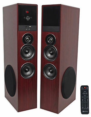 """Tower Speaker Home Theater System+8"""" Sub For Samsung Q6F Television TV-Wood"""