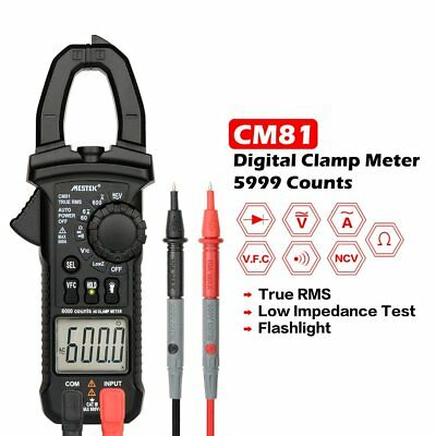 CM81 Digital Clamp Meter True RMS Multimeter AC/DC Volt Amp Ohm LowZ Tester 4A
