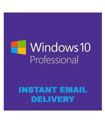 Microsoft Windows 10 Pro Digital Key Instant Delivery 32/64 Bit Lifetime