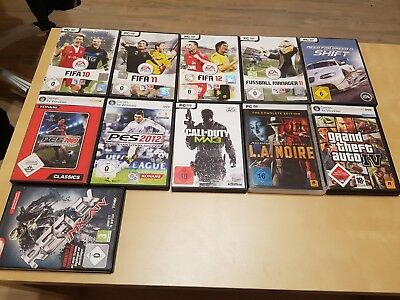 Pc Spiele Sammlung Games FIFA / PES / CALL OF DUTY / GTA / NEED FOR SPEED usw