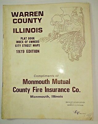 Vintage 1979 Warren County Illinois Plat Book Index of Owners Atlas Monmouth