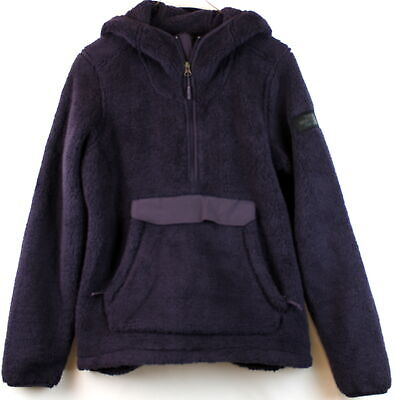 North Face Womens Cmpshire Hoodie Eggplant Relaxed Fit Size M